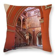 Courtyard Of Basel Town Hall Throw Pillow