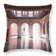 Courtyard Of The Central Post Office, Lima Peru Throw Pillow
