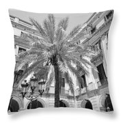 Courtyard Palm Throw Pillow