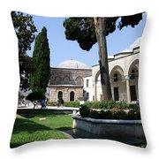 Courtyard Topkapi Palace - Istanbul Throw Pillow
