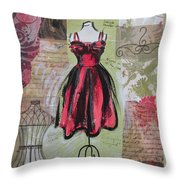 Couture I Throw Pillow