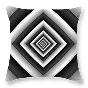 Covariance  6 Modern Geometric Black White Throw Pillow