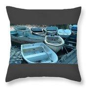 Cove Skiffs Throw Pillow