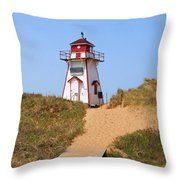 Covehead Harbour Lighthouse 5701 Throw Pillow