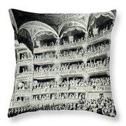 Covent Garden Theatre, 1795 Throw Pillow