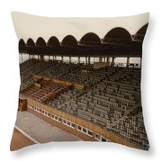 Coventry City - Highfield Road - South Side Main Stand 1 - 1969 Throw Pillow