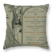 Cover Page From Lestampe Moderne Throw Pillow