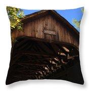 Covered Bridge In Woodstock Throw Pillow