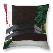 Covered Bridge No.1 Throw Pillow