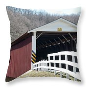 Covered Bridge Pa Throw Pillow