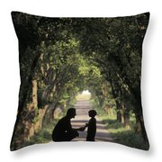 Covered Bridge Silhouettes In Mount Throw Pillow