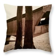 Covered Bridge Southern Indiana Throw Pillow