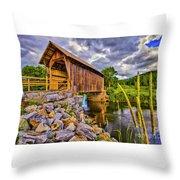 Covered Bridge, Vt Throw Pillow