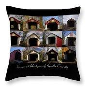 Covered Bridges Of Bucks County Throw Pillow