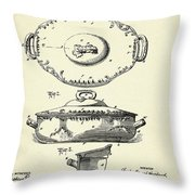 Covered Dish-1895 Throw Pillow