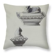 Covered Dish (cat) Throw Pillow