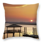 Covered Dock Throw Pillow