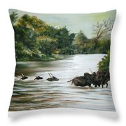 Cow Habitant Throw Pillow