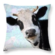 Cow Head Throw Pillow