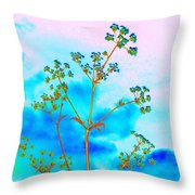 Cow Parsley Blossom 2 Throw Pillow