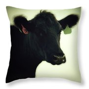 Cow In Summer Throw Pillow