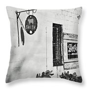 Cow Smith Throw Pillow
