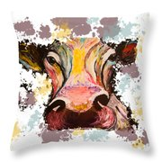 Cow Splotch Throw Pillow
