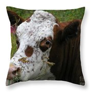 Cow Tongue Throw Pillow