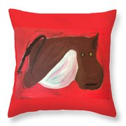 Cow With Udder Throw Pillow