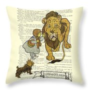 Cowardly Lion, The Wizard Of Oz Scene Throw Pillow