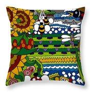 Cowbirds Throw Pillow by Rojax Art