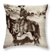 Cowboy, 1887 Throw Pillow