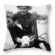 Cowboy, 20th Century Throw Pillow