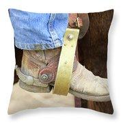 Cowboy Boot Throw Pillow
