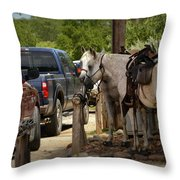 Cowboy Cars Throw Pillow