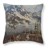Cowboy Cathedral Throw Pillow