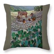 Cowboy Coffeebreak Throw Pillow