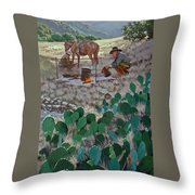 Cowboy Coffeebreak Throw Pillow