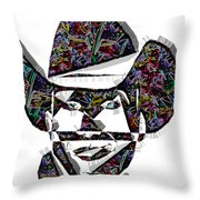 Cowboy Colorful 47 Throw Pillow