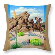 Cowboy Concerns Throw Pillow