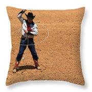Cowboy Entertainer Throw Pillow
