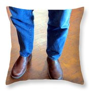 Cowboy Feet Throw Pillow