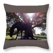 Cowboy Frozen In Time Throw Pillow