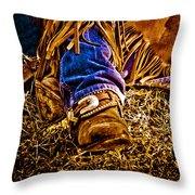 Cowboy Gold Throw Pillow