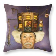 Cowboy Karl Throw Pillow