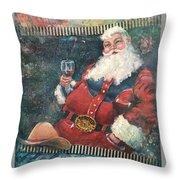 Cowboy Santa Throw Pillow