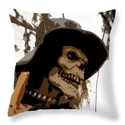 Cowboy Skeleton Throw Pillow
