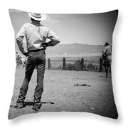 Cowboy Stance Throw Pillow