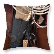 Cowboy Tack Throw Pillow