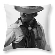 Cowboy Turning Throw Pillow